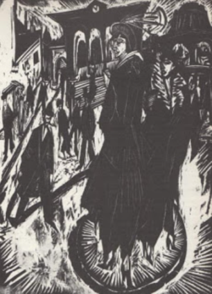 Kirchner, Women on Potsdamer Platz, 1914, woodcut