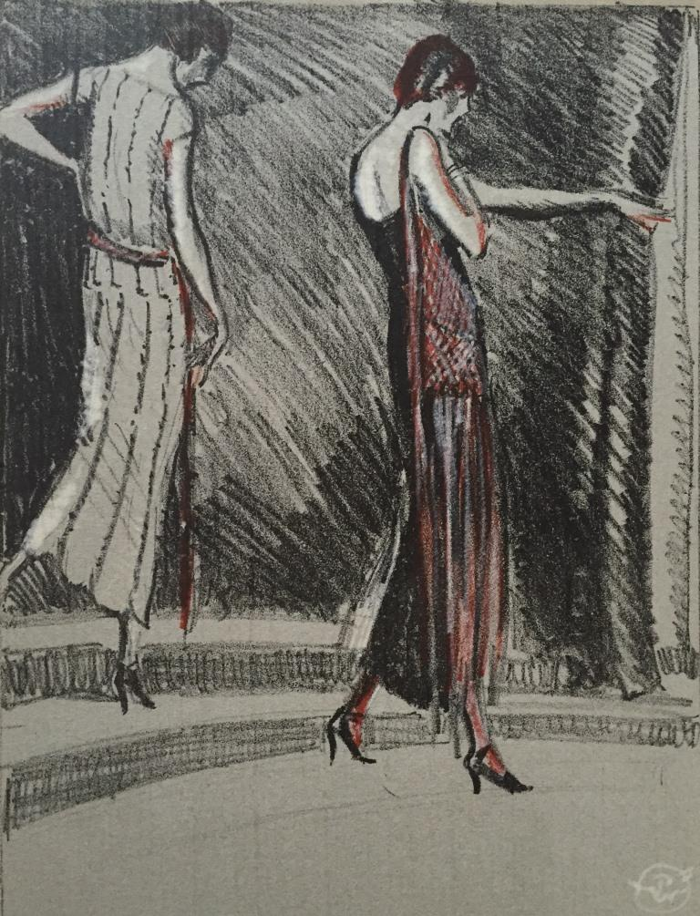 Gazette Du bon Ton, 1921 No 3 Plate IX Costume, de Worth c