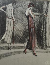 Gazette Du bon Ton, 1921 No 3 Plate IX Costume, de Worth c
