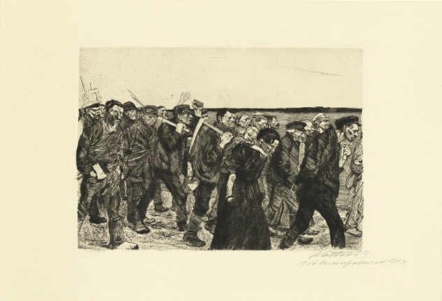 Kathe Kollwitz, March of the Weavers, 1914