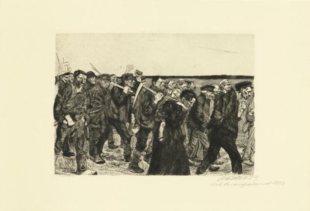 Kathe Kollwitz, March of the Weavers, 1914