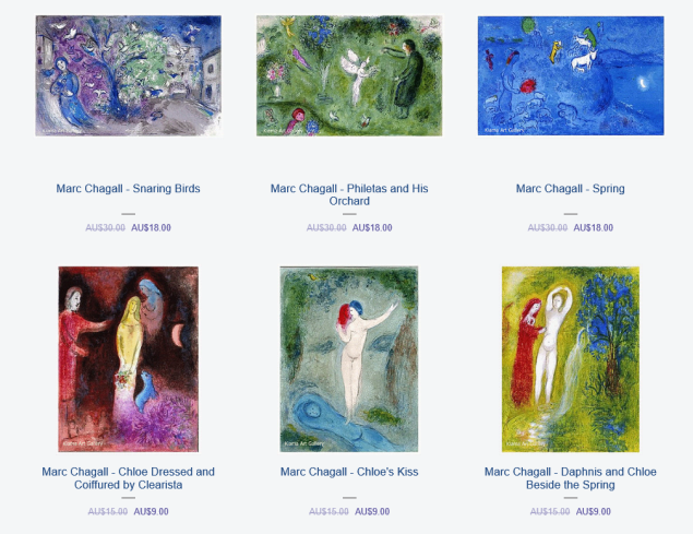 sale items marc chagall may