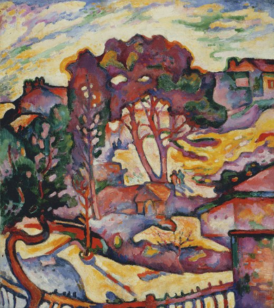 George Braque, The Great Trees, L Estaque, 1906–07, Museum of Modern Art