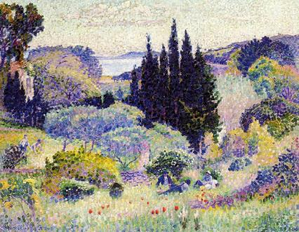 Henri Edmond Cross, Cypress, 1904