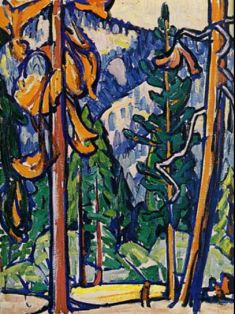 Marguerite Zorach, Man among the Redwoods, 1912