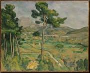 Paul Cézanne - Mont Sainte-Victoire and the Viaduct of the Arc River