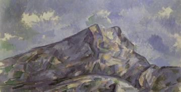 Paul Cezanne, La montagne Sainte-Victoire vue du bosquet de Chateau Noir , ca 1904