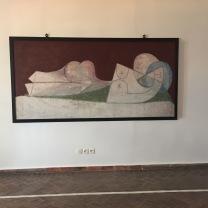 Pablo Picasso, Nu cloche Au lit blanc, 1946