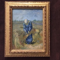 Vincent Van Gogh, peasant woman binding sheaves(after Millet) 1889