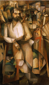 Albert Gleizes, Man on a Balcony, 1912
