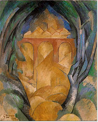 georges braque viaduct at l'estaque 1908
