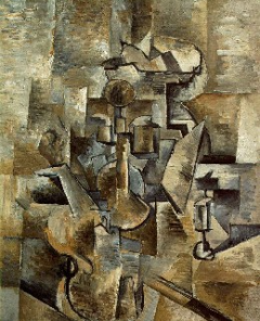 Georges Braque, Violin and Candlestick, 1910