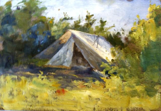 Emma Minnie Boyd, A Bush Camp (c. 1870s)